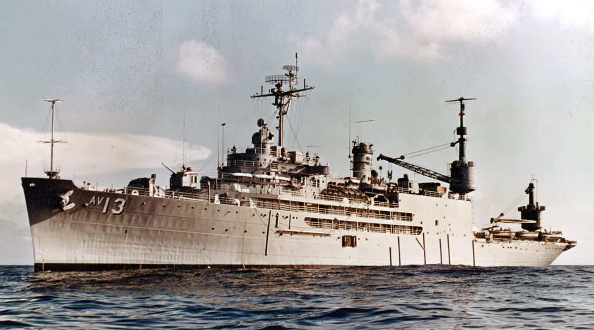 USS Salisbury Sound (AV-13) between 21 November 1966 and 28 February 1967, NHHC 'L' File.